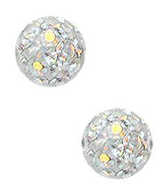 Bild von Epoxy Ferido Piercing Multi Strass Klemm-Kugel 3 mm + Überzug #Feridoball #Piercing #Epoxykugel