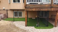 ProGreen discusses the vital components to building a dog kennel in your backyard, including ProGreen's artificial pet turf. Pet Grass, Building A Dog Kennel, Synthetic Lawn, Artificial Turf, Dog Runs, Homesteading, Shed, Backyard, Outdoor Structures