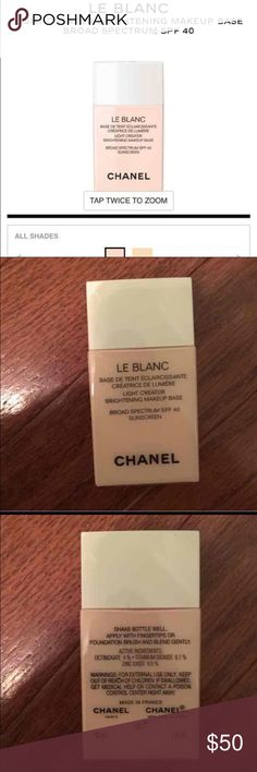 New Chanel Le Blanc Brightening Base 10 Rosee New unused/unopened Chanel Le Blanc Light Creator Brightening Makeup Base SPF 40 Sunscreen. Shade is 10 Rosee. Full size 30ml. Comes with box. Authentic guaranteed. I accept offers. Thank you.  Description: Now enriched with SPF 40, this lightweight, oil-free formula enhances radiance and extends the wear of foundation for an all-day rosy glow. A new yellow-based shade, 'Mimosa,' provides sheer coverage to help visibly correct the appearance of…