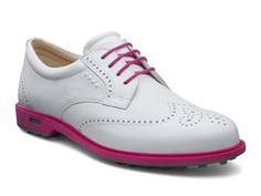 Ecco 2014 Womens Tour Hybrid in White/Beetroot - Mrs Golf - Ladies Golf Apparel, Shoes, Accessories - #mrsgolf