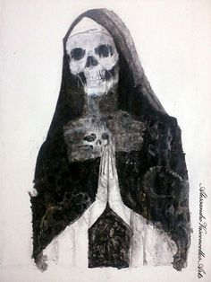 Madre Rotten-painting, acrylic ink on paper size 34X49
