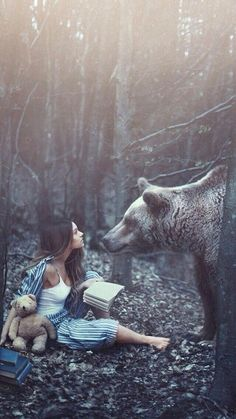 one with nature and the tough woman I need in my life that even makes the bears curious