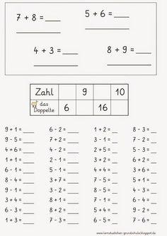 Arbeitsblatt: Rechnen 1. Klasse   Musik für Kinder   Pinterest   Math