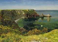 Pre Raphaelite Art: John William Inchbold - Anstey's Cove, Devon, 1854