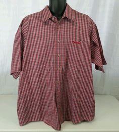 Men's FUBU  2 XL SS SHIRT EUC Red, blue, black 100% Cotton Big & Tall #FUBU #ButtonFront