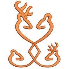browning+deer+patterns | Browning Doe, Buck Head, Deer Applique machine embroidery digitized ...