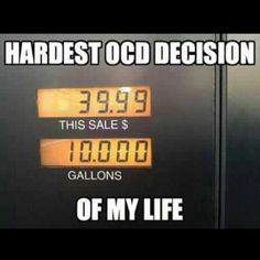OCD.  I don't know how long I would stand there looking like a weirdo.