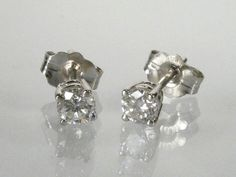 Diamond Ear Studs  030 Carats Total Weight 3233 by lonestarestates, $385.00