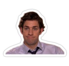 The Office stickers featuring millions of original designs created by independent artists. Decorate your laptops, water bottles, notebooks and windows. The Office Jim, The Office Show, Bubble Stickers, Face Stickers, The Office Stickers, Laptop Stickers, Jim Halpert Face, Shawn Mendes, Office Jokes