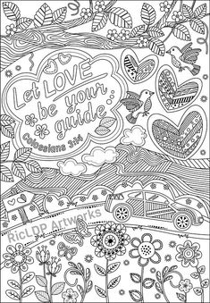 Set Of 3 Bible Coloring Pages For Grown Ups Colossians Luke And Jeremiah Verses Digital Download