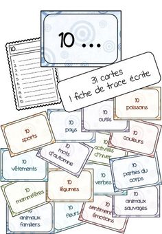 Make top 10 lists to practice vocabulary in French - français French Teaching Resources, Teaching French, Teaching Ideas, Spelling Activities, Writing Activities, French Flashcards, French Worksheets, Make Top, Vocabulary Instruction