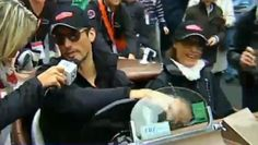 w/ Yasmin LeBon at the start of the Mille Miglia May 16, 2013