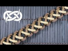 How to make a Divided Solomon Bar Paracord Bracelet - YouTube