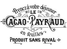 French Typography Cacao Payraud Label in black silk screen enamel decals. Open areas are clear to show off the vibrant colors of your glass work. Perfect designs to enhance your coasters, candles, pla