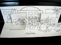 Trabajo ideal para contar a los niños historias de la Semana Santa   La entrada triunfal de Jesús a Jerusalem        Resurrección de Jesú...