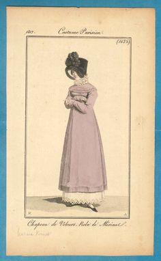 1817 lilac pelisse Costume Parisien fashion by SylvestraRegency