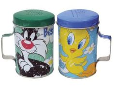 Sylvester & Tweety Best Friends Tin Salt And Pepper Shakers#149