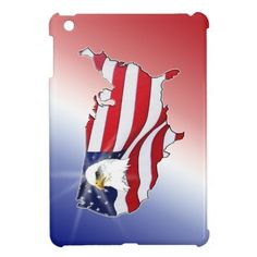 Patrotic American Eagle iPad Mini Cases.Patriotic Merchandise and American Flag Gifts for Men, Women, Kids, Mom, Dad and Pets.   Device Cases, Shirts, Mugs, Pacifiers, Patriotic Watches and more. See ALL Patriotic Gifts CLICK HERE: http://www.zazzle.com/littlelindapinda/gifts?cg=196904377583357091&rf=238147997806552929*/ ALL of Little Linda Pinda Designs CLICK HERE: http://www.Zazzle.com/LittleLindaPinda*/.