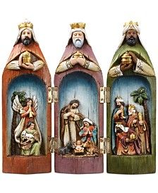The story of Christmas is uniquely and beautifully captured in this Napco nativity scene featuring the holy family set inside the three wise men. These pieces are hinged so they can close into each ot Nativity Scene Sets, Christmas Nativity Scene, A Christmas Story, Christmas Art, Christmas Holidays, Christmas Decorations, Christmas Ornaments, Nativity Creche, Xmas