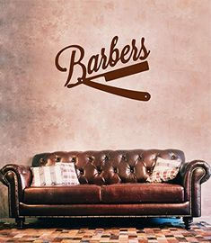 ik867 Wall Decal Sticker barber shop salon moustache haircut scissors hall StickersForLife http://www.amazon.com/dp/B00ULQ4COS/ref=cm_sw_r_pi_dp_NMNdvb0C78927