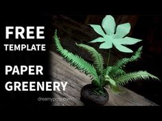 I'll share you here FREE template and full video tutorial to make several common tropical leaves, just from some piece of paper and wire.