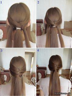 Самые простые прически для длинных волос