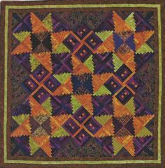 New Strip Pieced Quilt Pattern  66x66  76x86  106x106  Directions for 3 Sizes
