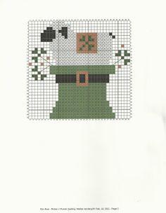 Cross Stitch Freebies, Cross Stitch Charts, Cross Stitch Patterns, St Patrick's Cross, Country Cottage Needleworks, Easter Cross, Gingham Fabric, Running Stitch, Stuffed Animal Patterns