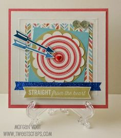 TweetScraps: January Stamp of the Month - Right On Target Card