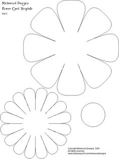 flower template how to make a 3 dimensional flower Giant Paper Flowers, Felt Flowers, Diy Flowers, Fabric Flowers, Flower Ideas, Paper Flower Patterns, Spring Flowers, Felt Crafts, Paper Crafts