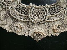 Point de Gaze lace with pearls by SpicySugar