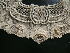 Point de Gaze lace with pearls by SpicySugar