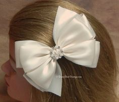 Many Colors  5 Satin RoseyBow® Hair Bow with by RoseyBearBoutique