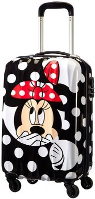 American Tourister Disney Legends 4-Rad Kabinentrolley 55cm Minnie Dots Handgepäck Blacknwhite Style Kids Travel luggage Fluggepäck airline Urlaub