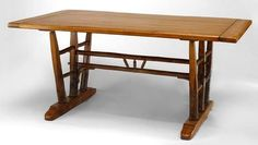 Rustic Old Hickory table dining table hickory Old Hickory, Drafting Desk, Tables, Dining Table, Rustic, Furniture, Home Decor, Mesas, Country Primitive