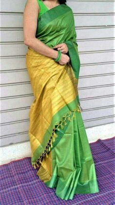 Tussar sarees with Gicha pallu in beautiful colors. Sarees with blouse piece. 5 days dispatch time to get the selected saree ready.