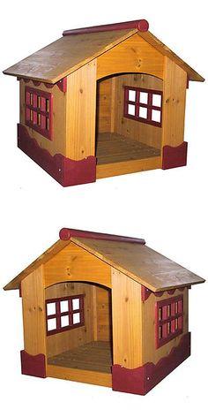 Dog Houses 108884 Insulated Wood Dog Furniture House Weatherproof Pet