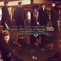 """""""Every man needs a good woman, because when life's a mess, just like the game of chess... A queen protects her king."""" What do you think @mrgiuntoli @jtoboni ? Perfect for TrubNick eh? Haha! #Grimm #quotes #Trubnick #jacquelinetoboni #davidgiuntoli #nickburkhardt #trubel #theresarubel"""