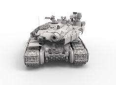 ArtStation - zbrush tank concept, Casper Konefal
