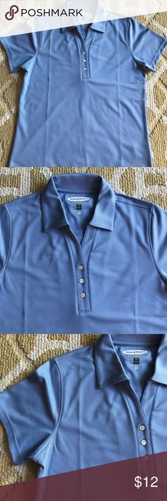 Pebble beach  blue golf shirt size medium Blue golf shirt woman's size medium. Collared 3 buttoned shirt Excellent quality and condition . Pebble Beach Tops Tees - Short Sleeve