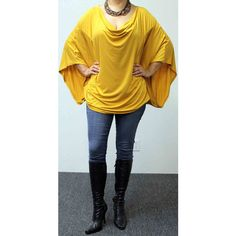 Adorable Soft & Comfortable Magic Tunic Osfa in Gold Will Fit Upto 3xl ($29) ❤ liked on Polyvore featuring tops, tunics, grey, women's clothing, gray shirt, plus size tunics, mustard shirt, checked shirt and grey tunic