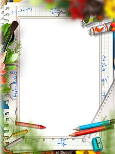 Back to school ( clip art, photo frames) for scrap booking, crafts, planners. Frame Border Design, Page Borders Design, Math Border, Illustration Vector, Illustrations, Math Design, Design Design, Simple Background Images, School Border