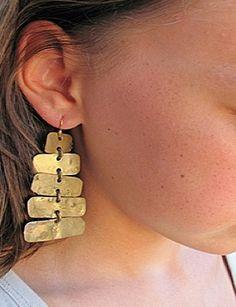 Brass forged earring by lorraine pennington