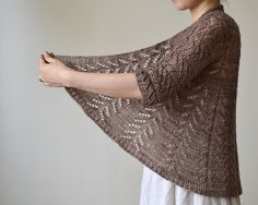 Hitofude Cardigan knit in Madelinetosh Tosh Merino Light – need to make this for spring. #knitting