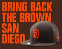 YES. #bringbackthebrown #sandiego  #padres #brownlover