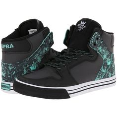 Supra Vaider ($95) ❤ liked on Polyvore featuring shoes, black, sneakers, sneakers & athletic shoes, hi tops, breathable shoes, supra high tops, kohl shoes and ankle support shoes