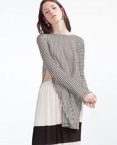 Zara Sheer Striped Top $23