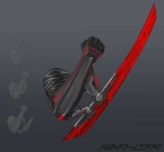 Sci Fi Arm Blade Commission by Nano-Core on DeviantArt Ninja Weapons, Anime Weapons, Sci Fi Weapons, Robot Concept Art, Weapon Concept Art, Armor Concept, Robot Art, Fantasy Armor, Fantasy Weapons