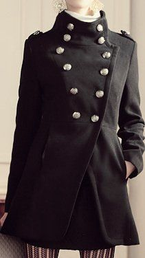 Amazon.co.jp: amybell あったか レディース スリム ナポレオン コート ジャケット ダブルボタン ロング Aライン: 服&ファッション小物
