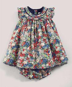 Liberty Thorpe Frill Neck Dress - Liberty Collection - Mamas & Papas